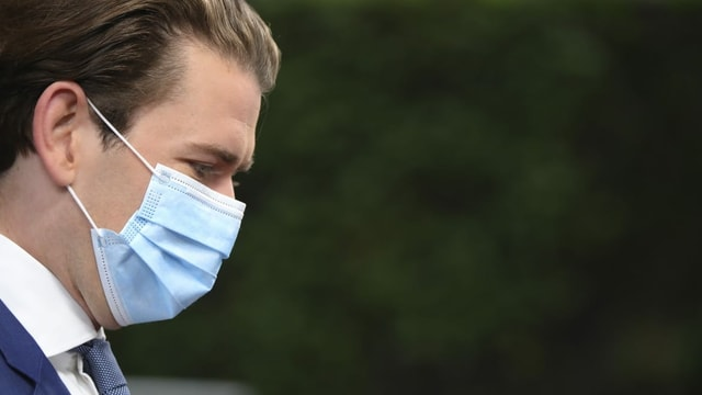 Sebastian Kurz mit Maske.