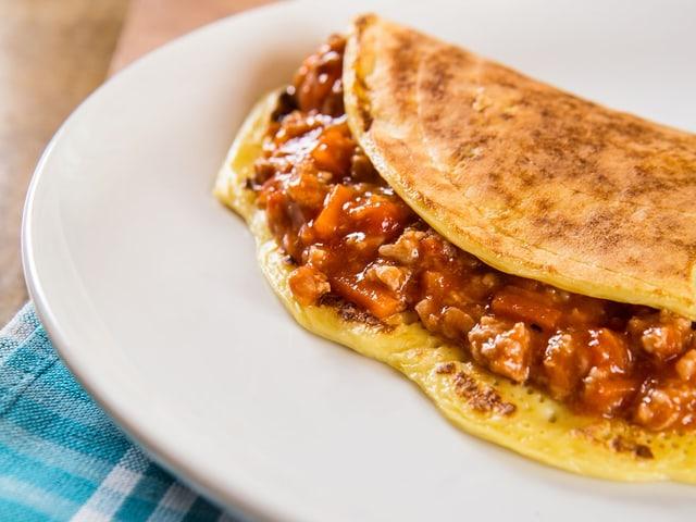 Omelette mit Hackfleisch