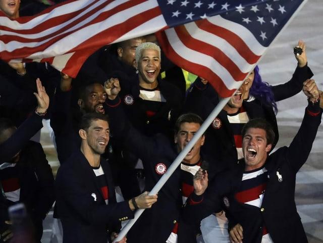 US-Athleten bei der Rio-Eröffnungsfeier 2016.