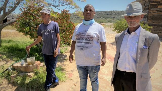 Der Khoi San Regionalvertreter Kenneth Marmann in Südafrika.