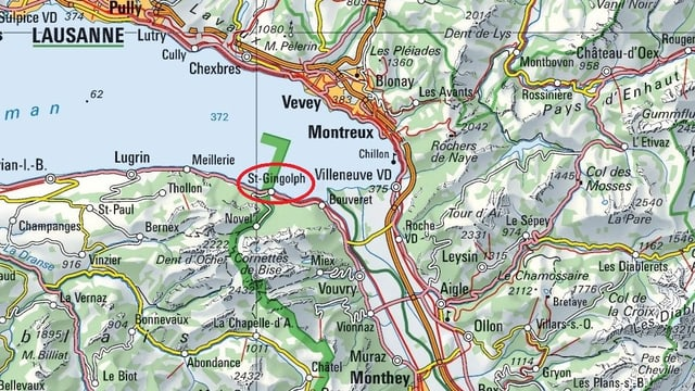 Karte der Genferseeregion