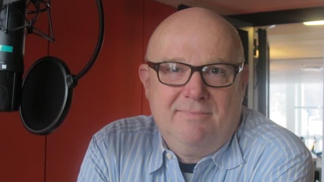 Thomas Kraus im Studio des «Regionaljournals».