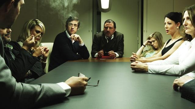 Sitzung des Gemeinderats, Szene aus dem Film