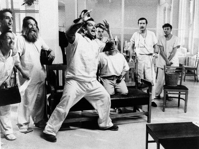 Jack Nicholson in einer Szene aus dem Film «Einer flog über das Kuckucksnest».