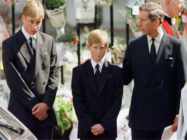 Harry bei Dianas Beerdigung