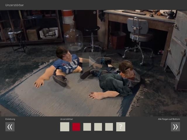 Standbild einer Episode von Quarx.