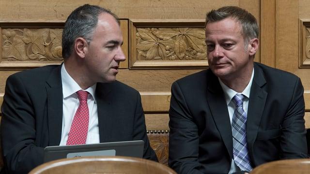 CVP-Präsident Christophe Darbellay und BDP-Präsident Martin Landolt im Gespräch.