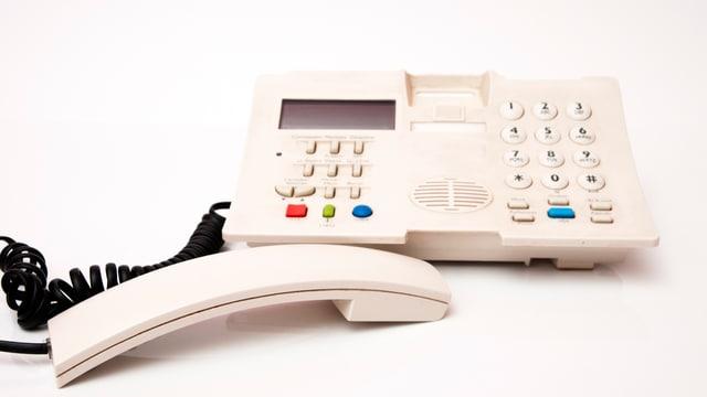Ein weisses Telefon