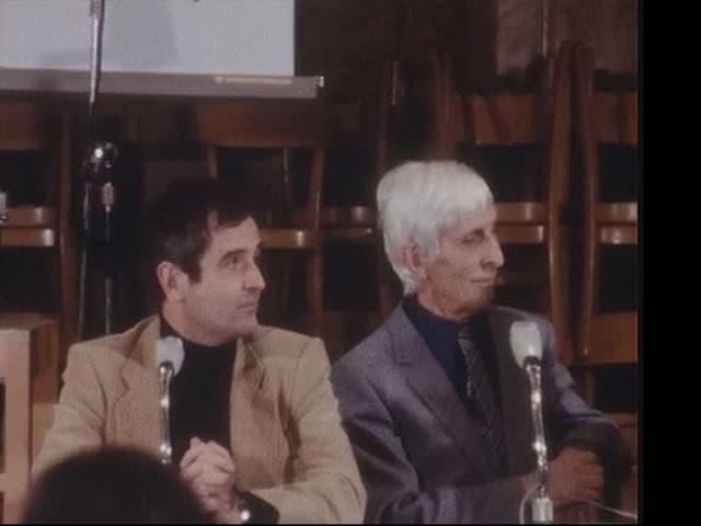 Andreas Blum e Clemens Pally durant la conferenza da pressa