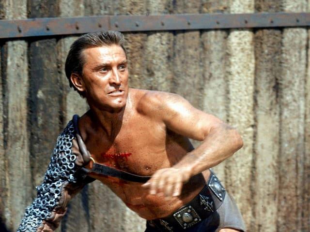 Kirk Douglas als Gladiator Spartacus im Jahr 1960.
