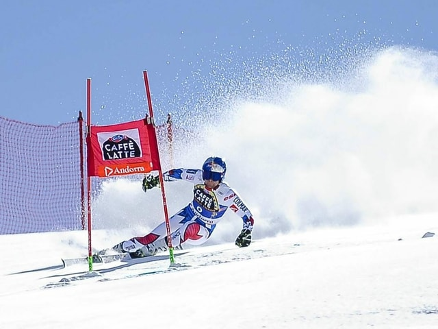 Alexis Pinturault bei einem Rennen in Soldeu.