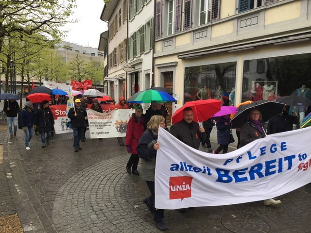 Umzug in Aarau