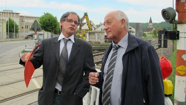 Thomas Theiler und Willi Josel im Streitgespräch.