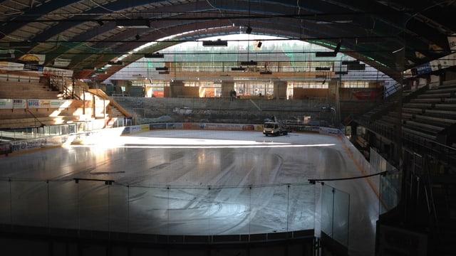 Trotz des grossen Umbaus im Oltner Kleinholz-Stadion kamen diese Saison mehr Zuschauer an die EHCO-Spiele.