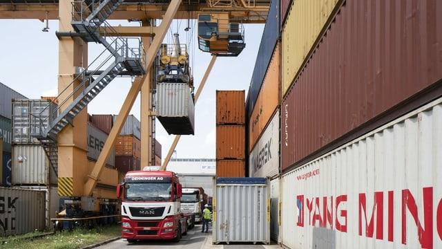 Containerkran in Basel