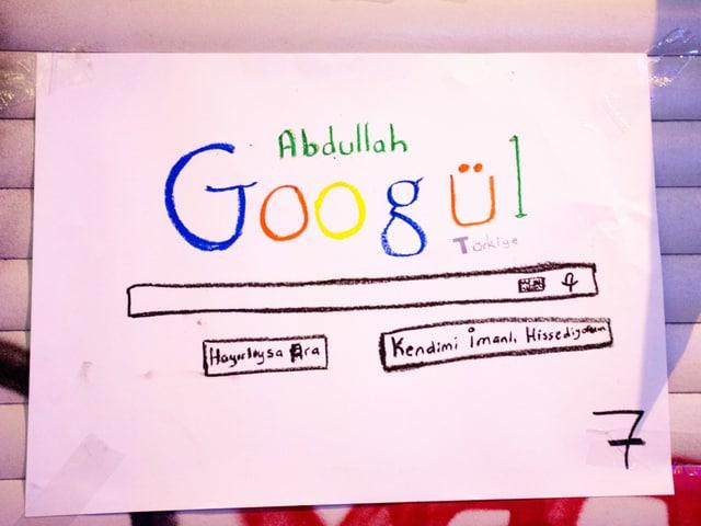 Aus Präsident Abdullah Gül wird «Googül»: Plakat an der Demonstration gegen das türkische Internetgesetz.