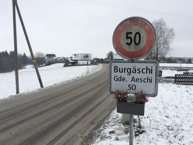 Ortstafel Burgäschi