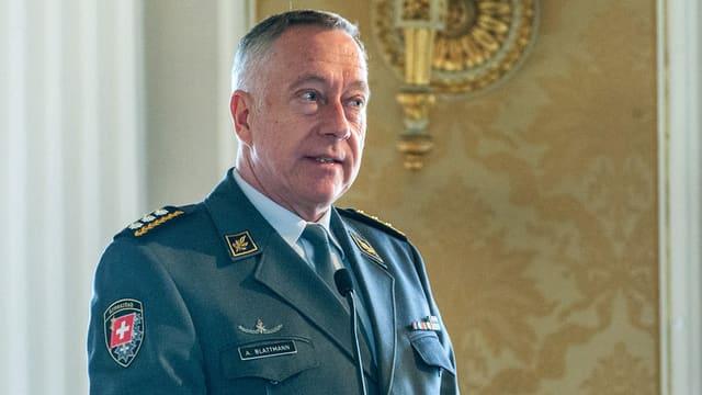 Il schef da l'armada svizra, André Blattmann.
