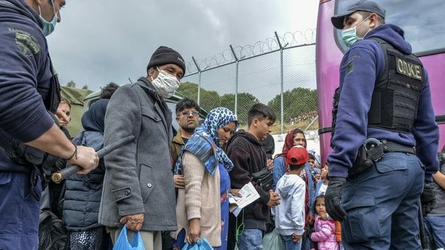 Zu sehen Flüchtlinge in Griechenland.