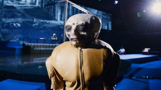 Die Hauptdarstellerin «Antigone» im Schiffbau.