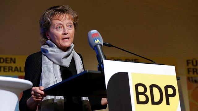 Eveline Widmer-Schlumpf cumbatta per sia partida PBD.