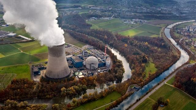 Zu sehen: ein Atomkraftwerk-