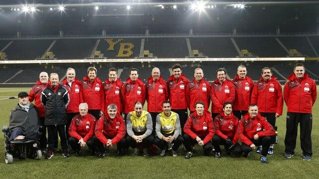 Die Mannschaft des FC Nationalrat.