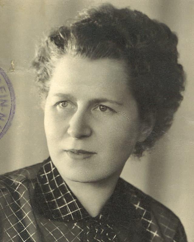 Ruth Pittini auf einem ehemaligen Passfoto.