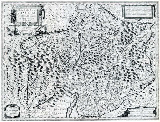 Charta geografica da las Trais Lias e lur terra subdita