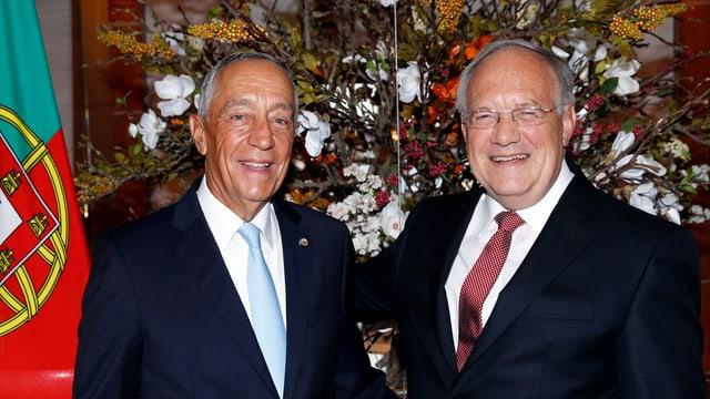 Genf: Bundespräsident Schneider-Ammann empfängt Präsident Rebelo de Sousa zum zweitägigen Staatsbesuch.