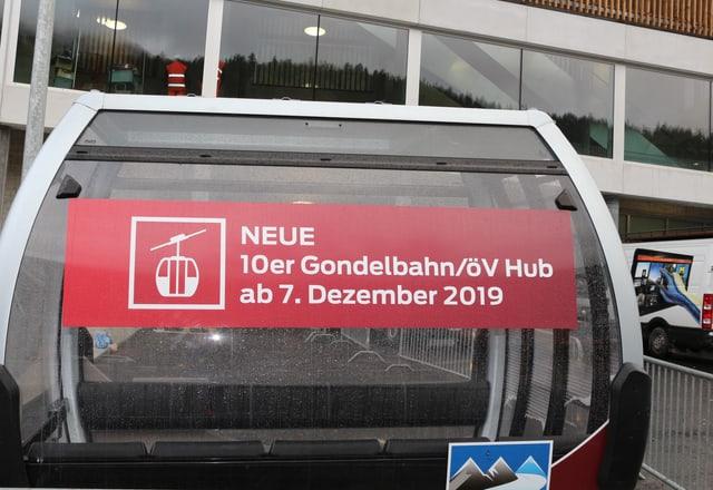 Seilbahnkabine der neuen Bahn.