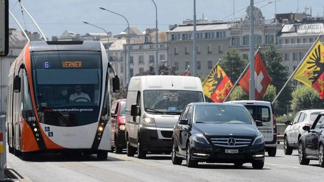 Strassenverkehr in Genf