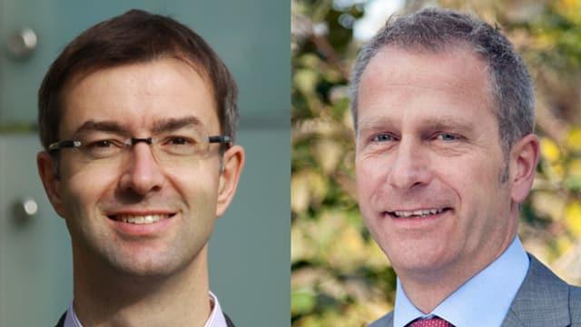Porträtbild von Franz-Xaver Simmen, CEO Swiss Alps und Jean-Yves Blatt CEO Hotel Chedi, Andermatt.