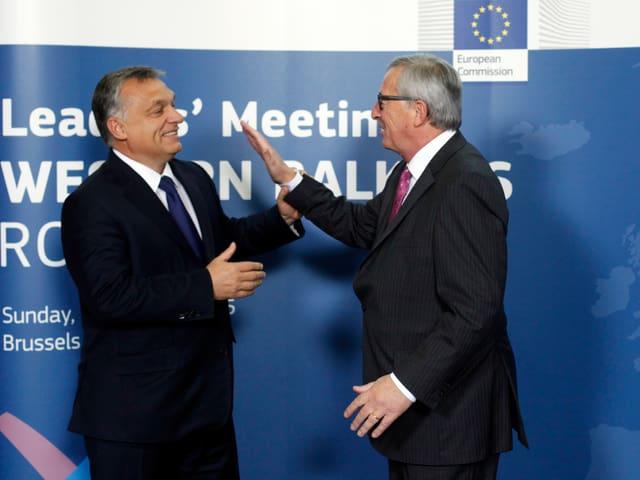 Viktor Orban Jean-Claude Juncker