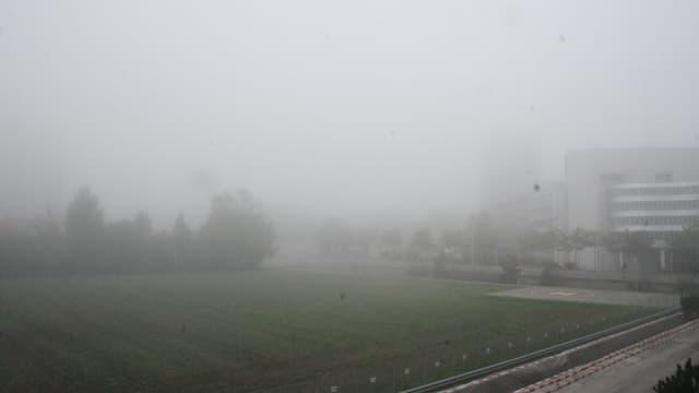 Vom Meteobüro aus, sah man am Samstagmorgen nur noch rund 50 Meter weit.