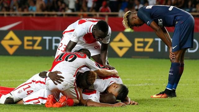 Szene des Spiels Monaco gegen Paris.