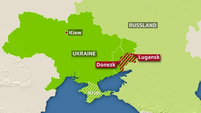 Karte vom Konfliktgebiet.