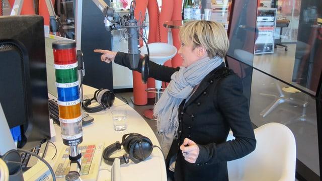 Patricia Kaas im Studio.