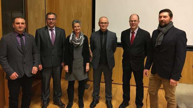 Victor Flepp, Clemens Berther, Iris Lombris, Robert Cajacob, Christoph Berger, Iso Mazzetta (da sanester).