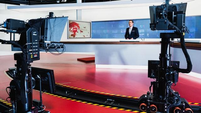 SRF-Studio bei einer Sendung.