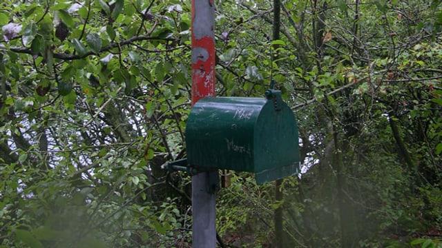 Briefkasten auf der Schnittlauchinsel.