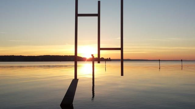 Sonnenaufgang in Kreuzlingen am Bodensee.