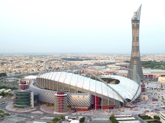 Blick auf das «Khalifa International Stadium» in Doha