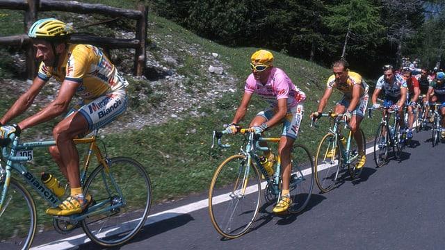 Marco Pantani auf dem Weg zum Giro-Sieg 1998.