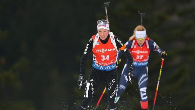 La curridra da biatlon Grischuna Selina Gasparin durant la cursa a Ruhpolding (GER)