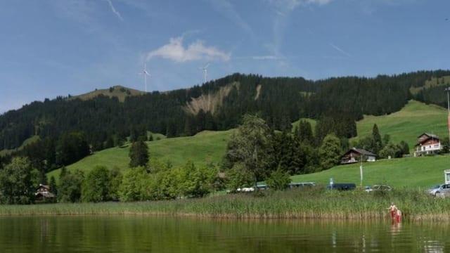 Visualisierung von WIndturbinen auf dem Schwyberg.