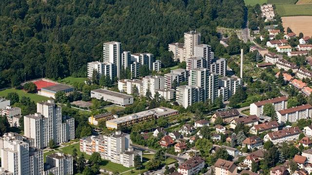 Hochhäuser  am Stadtrand