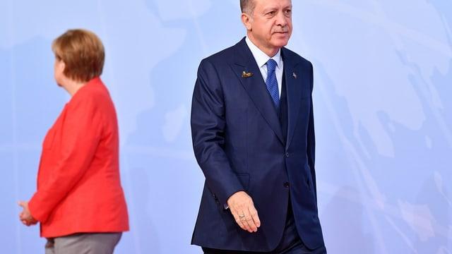 Merkel ed Erdogan.