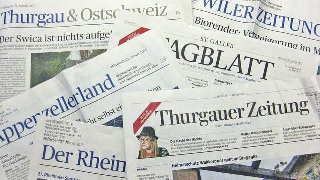 Tageszeitungen der NZZ-Gruppe.