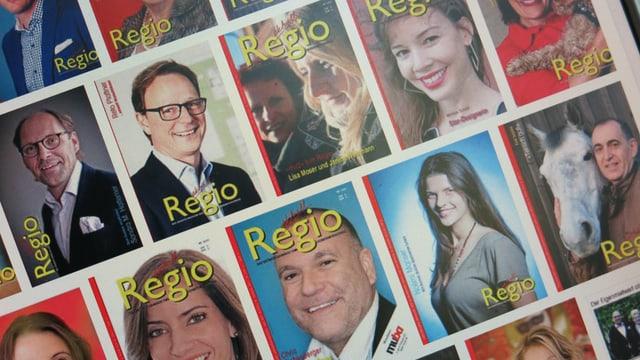 Viele Cover eines Magazins